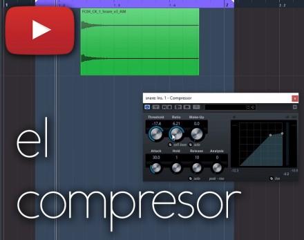 Compresor de audio: Videotutorial de funcionamiento básico