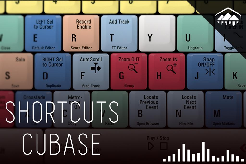 shortcuts para cubase